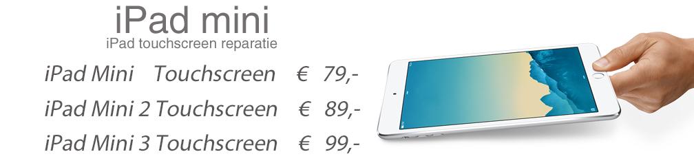 ipad mini touchscreen reparatie banner